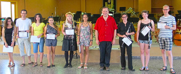 Xativa Clarinetists 2013